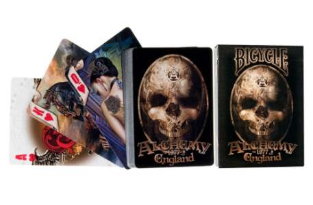 Cartes Bicycle, Alchemy England, cartes de Poker