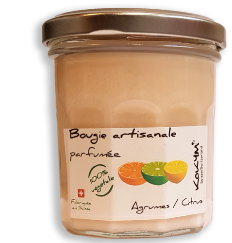 Bocal bougie, Agrumes